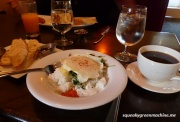 Cafe Maude's Eggs and Sauteed Spinach