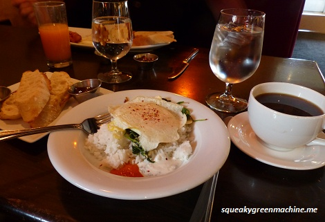 Eggs and Sauteed Spinach