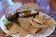 Brasa's Black Bean Fritter Sandwich