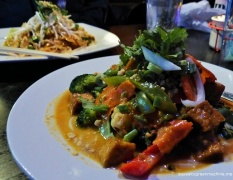 mixed veggies with peanut sauce