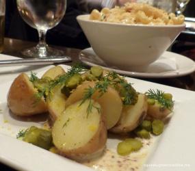 The Husband's Potato Salad: Yukon gold potatoes, cured egg yolk, cornichons, dill, whole grain mustard aioli (gluten free)