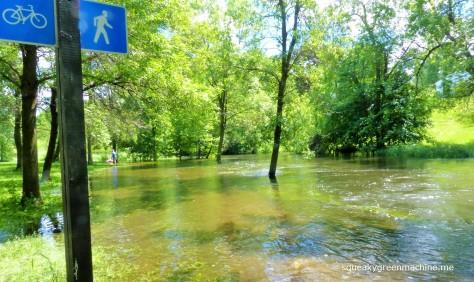 flooded creek